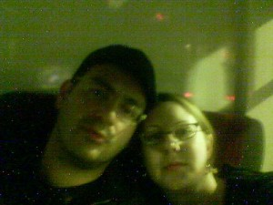 me and enrique, on the bus back to new haven